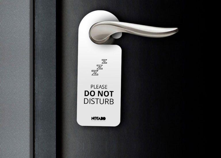 notadd monofylla hotel door hanger